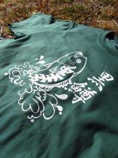 画像3: オリジナルプリント Tシャツ オリジナルブラックバス グリーン・ホワイト (3)