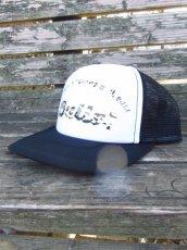画像2: オリジナルプリント メッシュキャップ オリジナルロゴ ブラックホワイト・カモアーミー (2)