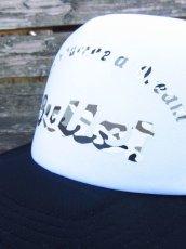 画像4: オリジナルプリント メッシュキャップ オリジナルロゴ ブラックホワイト・カモアーミー (4)