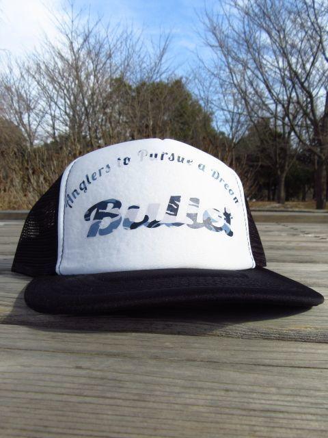 画像1: オリジナルプリント メッシュキャップ オリジナルロゴ ブラックホワイト・カモブルー (1)