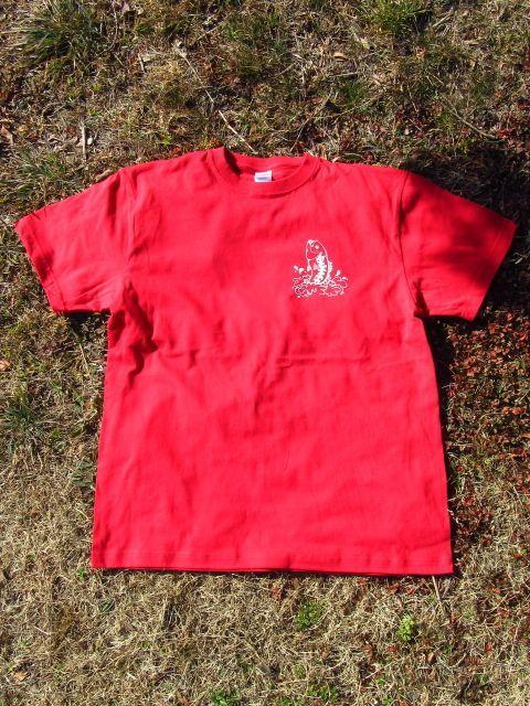 画像1: オリジナルプリント Tシャツ オリジナルブラックバス レッド・ホワイト (1)